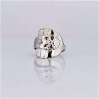 ring sølvring sølvplett anitra sølvbestikk sølvtøy zirkonia
